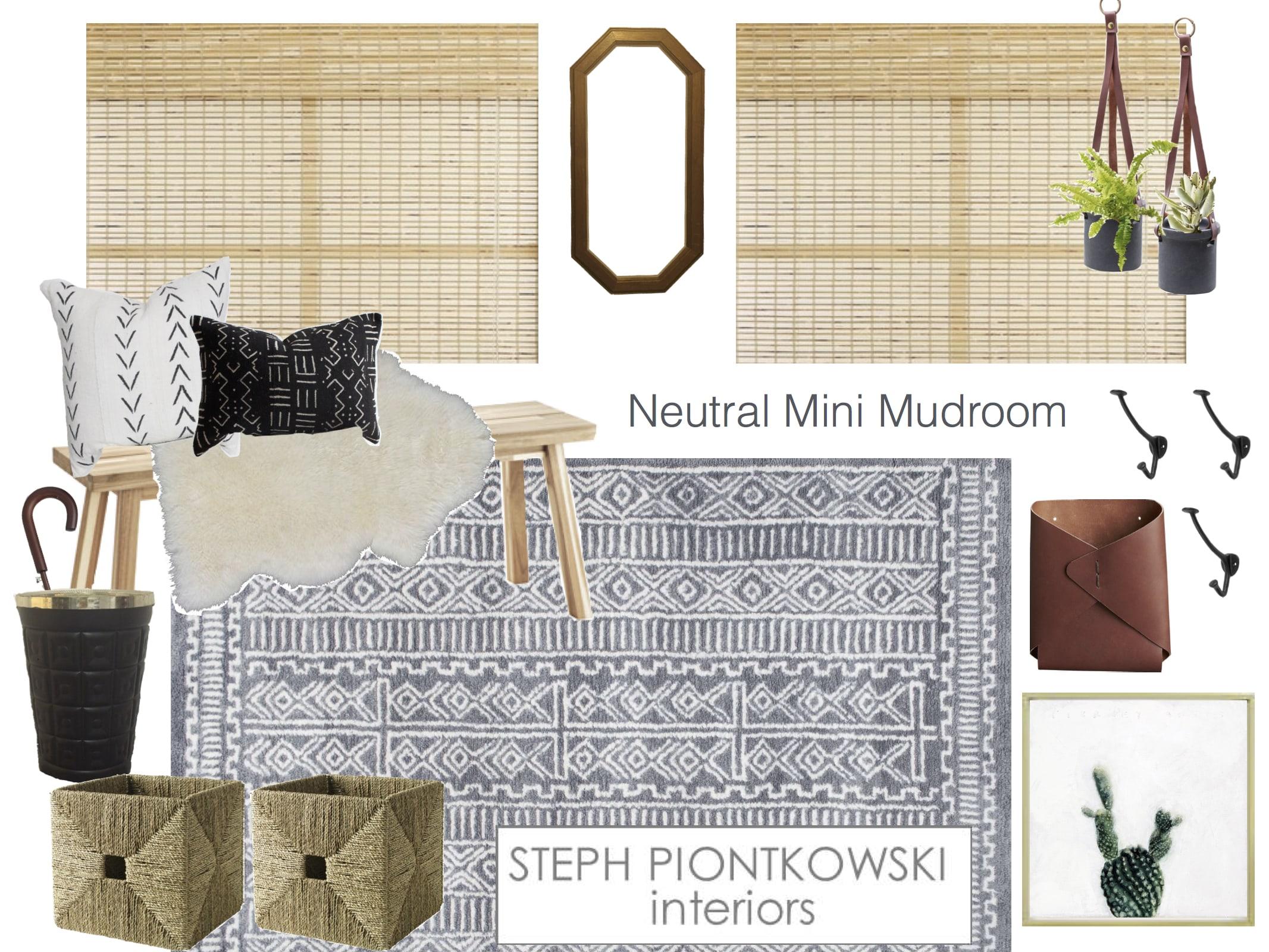 Neutral Mini Mudroom | STEPH PIONTKOWSKI INTERIORS